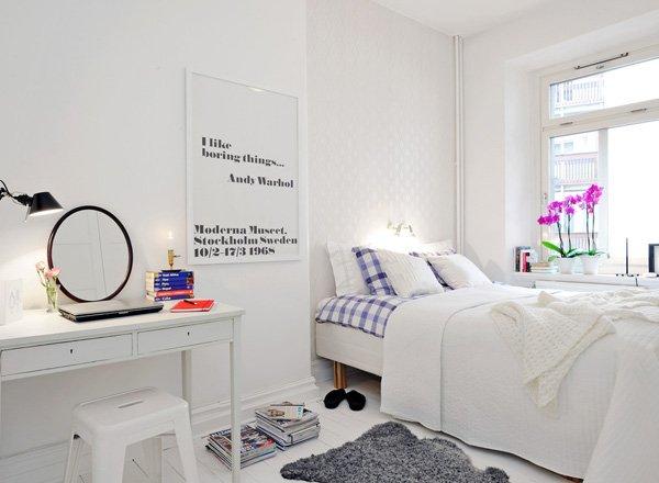 Aranżacja Małej Sypialni Z Toaletką Zdjęcie W Serwisie
