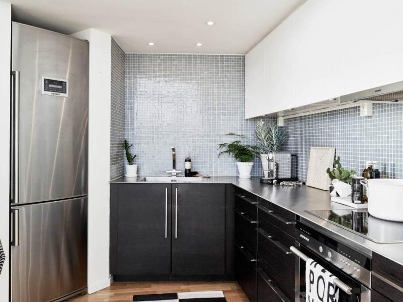 Grafitowe szafki kuchenne szara glazura w zdj cie w for Taller decoracion de interiores