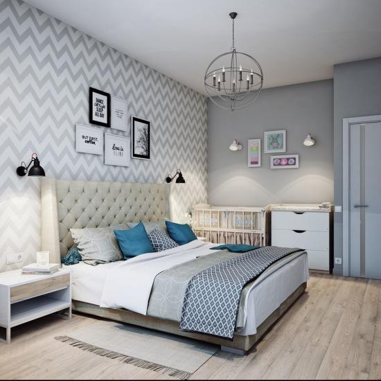 szara tapeta z motywem szewronu w aran acji zdj cie w serwisie 52549. Black Bedroom Furniture Sets. Home Design Ideas