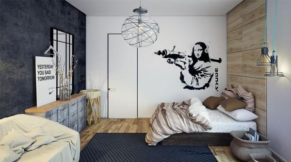 Drewniane Panele Na ścianie Naklejka Biało Czarna Zdjęcie